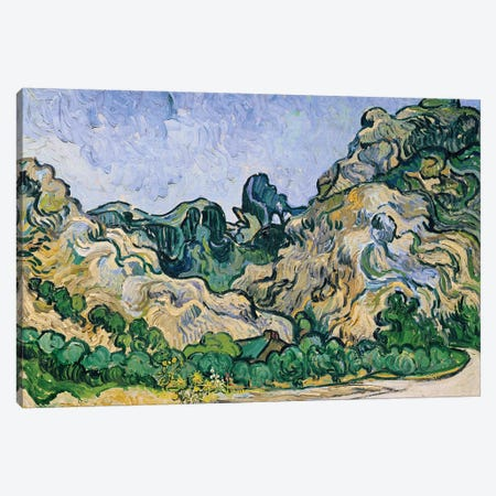The Alpilles, 1889  Canvas Print #BMN3018} by Vincent van Gogh Canvas Art