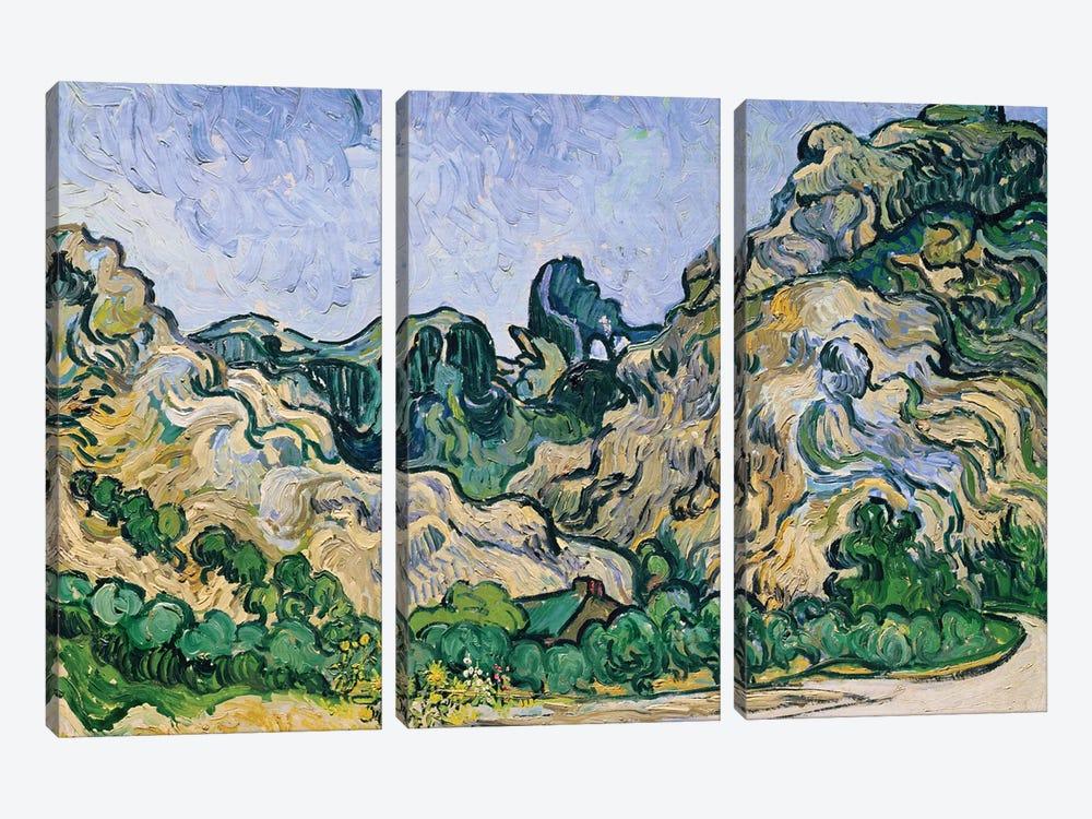 The Alpilles, 1889  by Vincent van Gogh 3-piece Canvas Wall Art