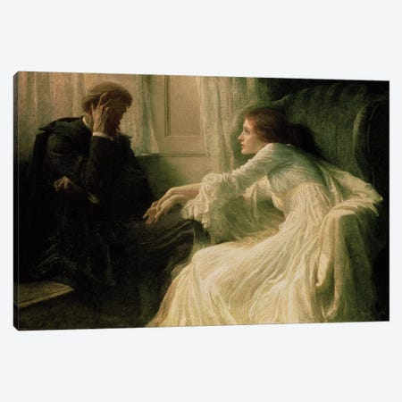 The Confession Canvas Print #BMN301} by Sir Frank Dicksee Art Print