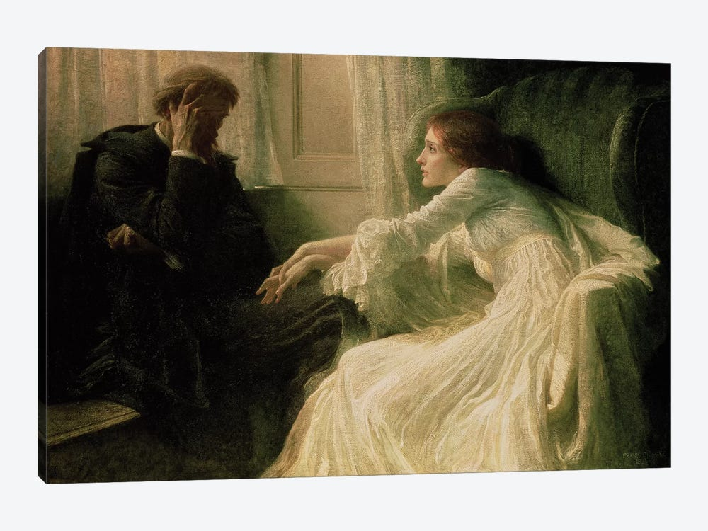 The Confession by Sir Frank Dicksee 1-piece Canvas Artwork