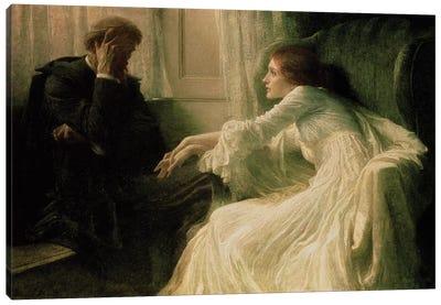 The Confession Canvas Art Print