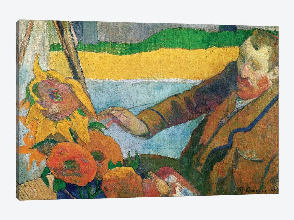 Van Gogh Painting Sunflowers, 1888 by Paul Gauguin 1-piece Canvas Print