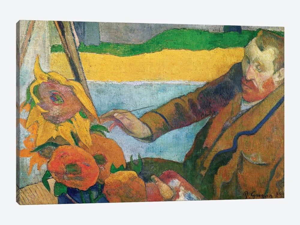Van Gogh Painting Sunflowers, 1888 by Paul Gauguin 1-piece Canvas Print