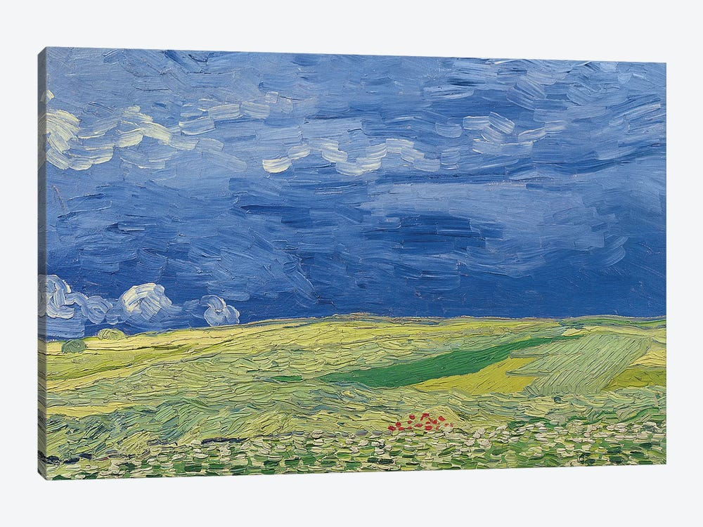 Wheatfields under Thunderclouds, 1890  by Vincent van Gogh 1-piece Canvas Wall Art
