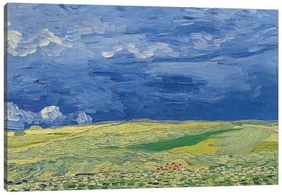 Wheatfields under Thunderclouds, 1890  Canvas Art Print