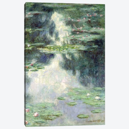 Pond with Water Lilies, 1907  Canvas Print #BMN3024} by Claude Monet Canvas Artwork