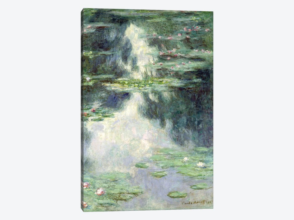 Pond with Water Lilies, 1907  by Claude Monet 1-piece Canvas Art Print