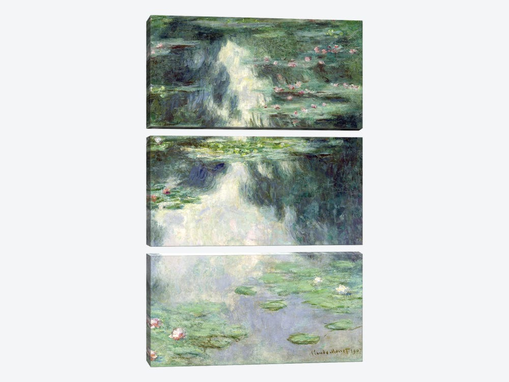 Pond with Water Lilies, 1907  by Claude Monet 3-piece Art Print