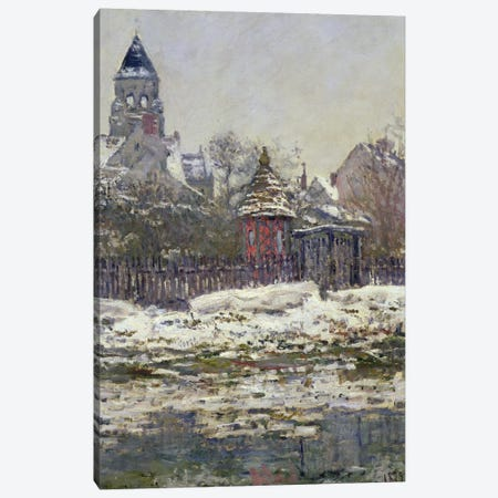 The Church at Vetheuil, 1879  Canvas Print #BMN302} by Claude Monet Art Print