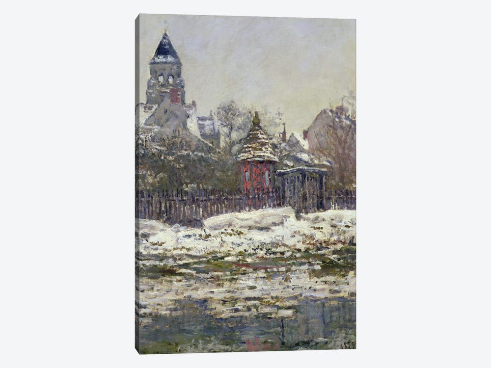 The Church at Vetheuil, 1879  by Claude Monet 1-piece Canvas Print