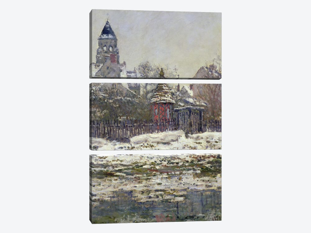 The Church at Vetheuil, 1879 by Claude Monet 3-piece Art Print