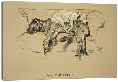 Agglomeration, 1930, 1st Edition of 'Sleeping Partners', Aldin, Cecil Charles Windsor  Canvas Art Print