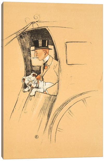 The Extra Passenger, From 'A Gay Dog, Story of a Foolish Year' Aldin, Cecil Charles Windsor  Canvas Art Print