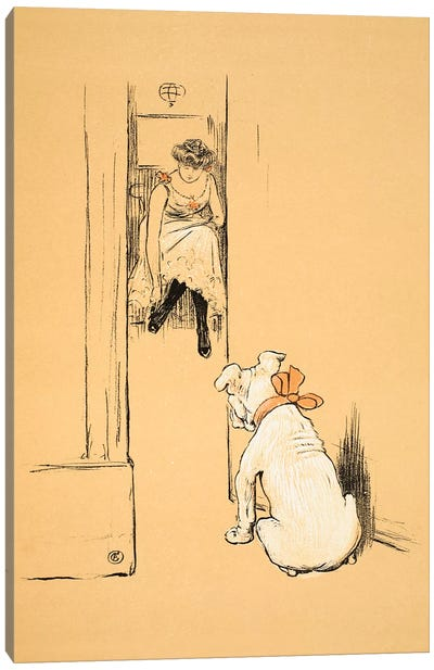 My Mistress Dressing, From 'A Gay Dog, Story of a Foolish Year' Aldin, Cecil Charles Windsor  Canvas Art Print