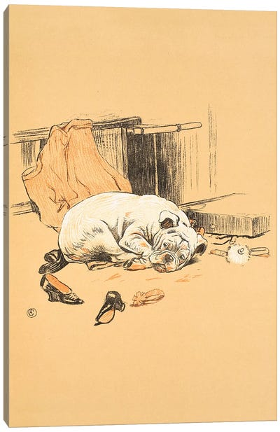 Disappointment at not finding the Chocolates, from 'A Gay Dog, Story of a Foolish Year' Aldin, Cecil Charles Windsor  Canvas Art Print