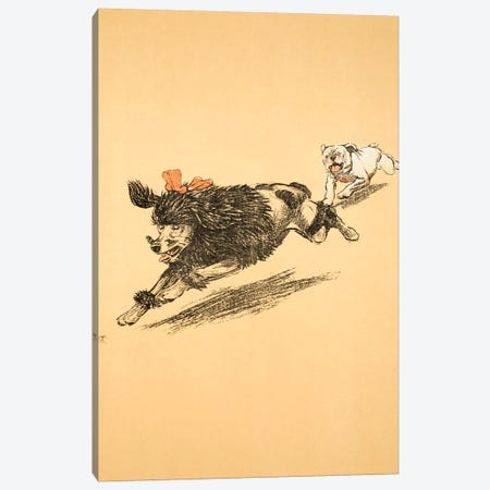 The Chase, from 'A Gay Dog, Story of a Foolish Year', 1905  Canvas Print #BMN3049} by Cecil Charles Windsor Aldin Canvas Print