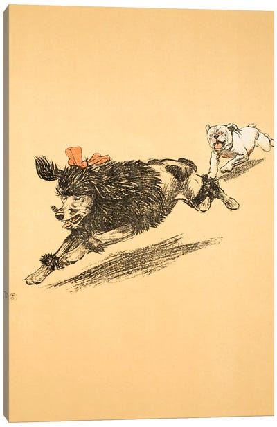 The Chase, from 'A Gay Dog, Story of a Foolish Year', 1905  Canvas Art Print