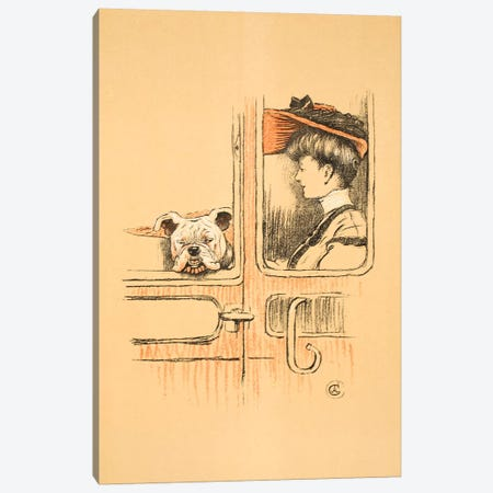 Travelling in First Class, From 'A Gay Dog, Story of a Foolish Year' Aldin, Cecil Charles Windsor  Canvas Print #BMN3050} by Cecil Charles Windsor Aldin Canvas Wall Art