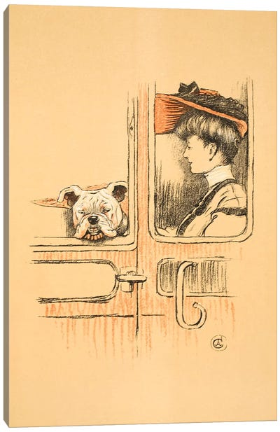 Travelling in First Class, From 'A Gay Dog, Story of a Foolish Year' Aldin, Cecil Charles Windsor  Canvas Art Print