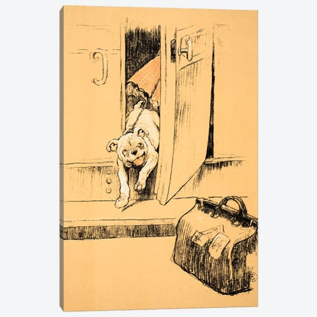 Arriving at our Destination, From 'A Gay Dog, Story of a Foolish Year' Aldin, Cecil Charles Windsor  Canvas Print #BMN3051} by Cecil Charles Windsor Aldin Canvas Wall Art