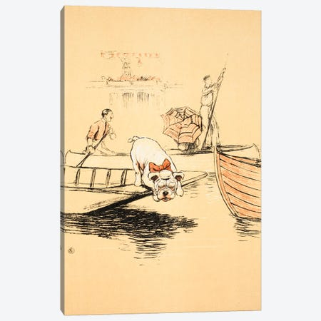 Henley Regatta', Cecil Aldon  Canvas Print #BMN3052} by Cecil Charles Windsor Aldin Canvas Art