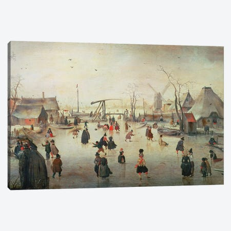 Ice Sports, c.1610  Canvas Print #BMN305} by Hendrik Avercamp Canvas Wall Art
