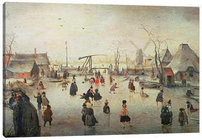 Ice Sports, c.1610  Canvas Art Print