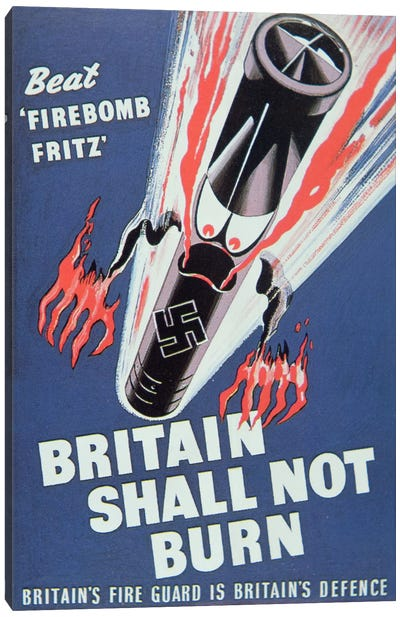 'Britain Shall not Burn', 1940  Canvas Art Print