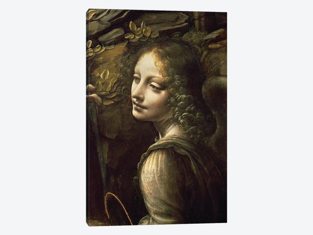 Detail of the Angel, from The Virgin of the Rocks  by Leonardo da Vinci 1-piece Canvas Wall Art