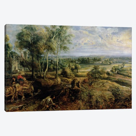 An Autumn Landscape with a view of Het Steen in the Early Morning, c.1636  Canvas Print #BMN3066} by Peter Paul Rubens Canvas Wall Art