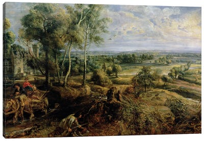 An Autumn Landscape with a view of Het Steen in the Early Morning, c.1636  Canvas Art Print