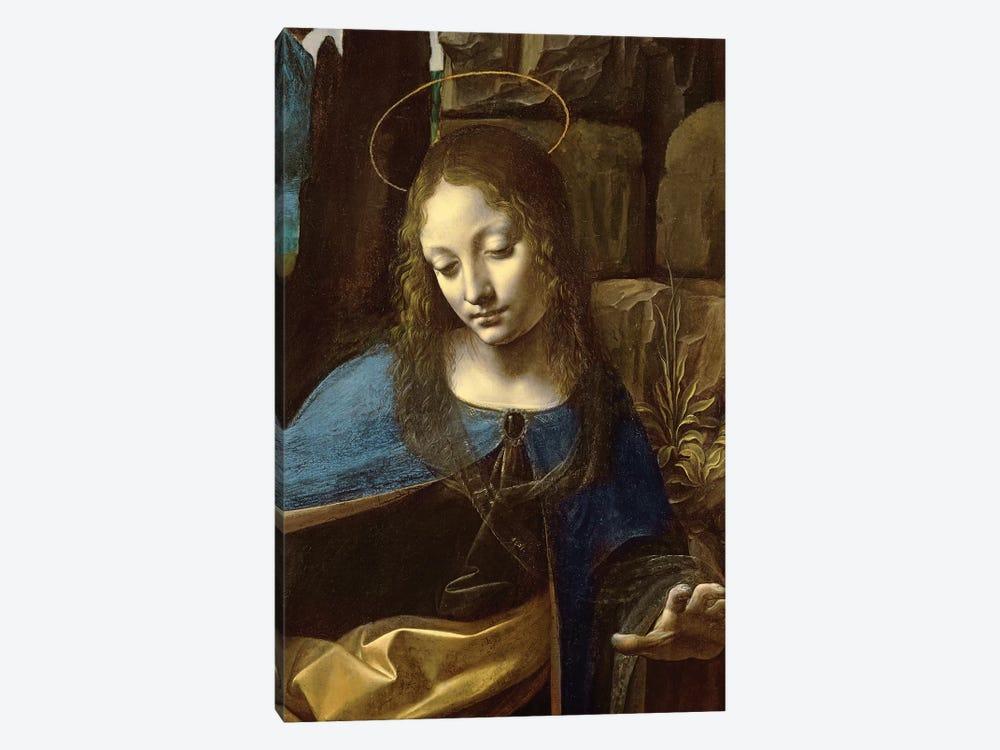 Detail of the Head of the Virgin, from The Virgin of the Rocks  by Leonardo da Vinci 1-piece Canvas Art