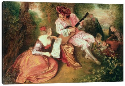 The Scale of Love, 1715-18  Canvas Art Print