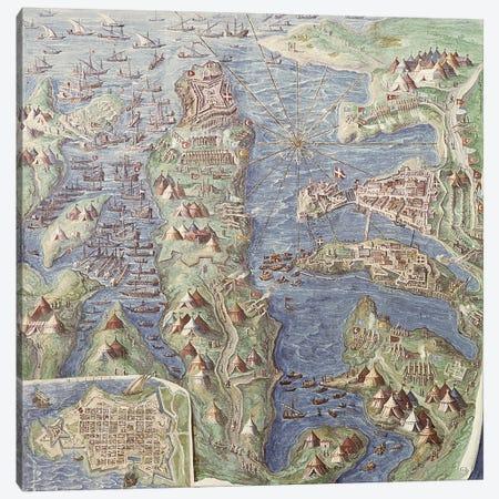 Siege of Malta, detail from the 'Galleria delle Carte Geografiche', 1580-83  Canvas Print #BMN3072} by Italian School Canvas Art