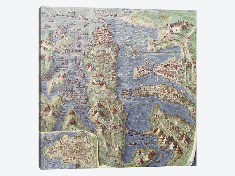 Siege of Malta, detail from the 'Galleria delle Carte Geografiche', 1580-83  by Italian School 1-piece Canvas Artwork