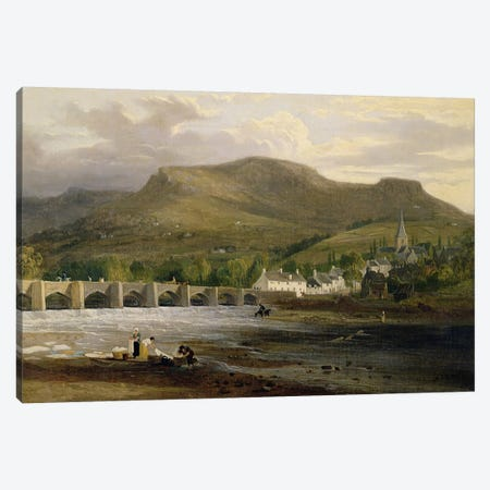 Crickhowell, Breconshire, c.1800  Canvas Print #BMN3075} by English School Art Print
