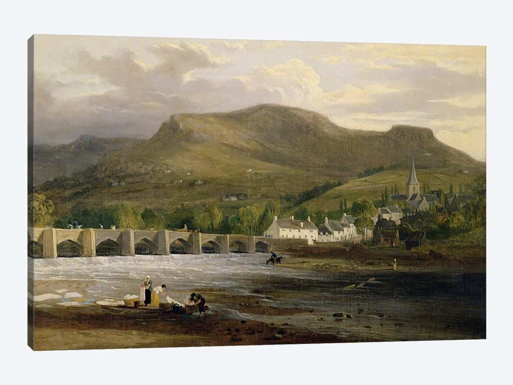 Crickhowell, Breconshire, c.1800 by English School 1-piece Canvas Print