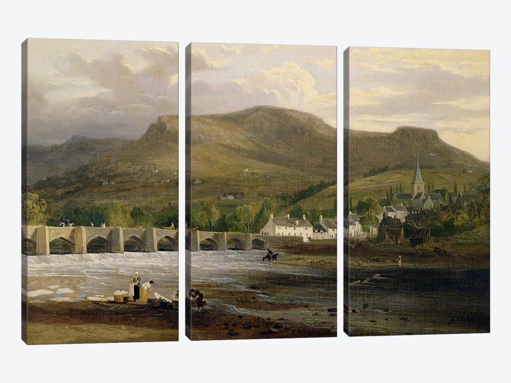 Crickhowell, Breconshire, c.1800 by English School 3-piece Art Print