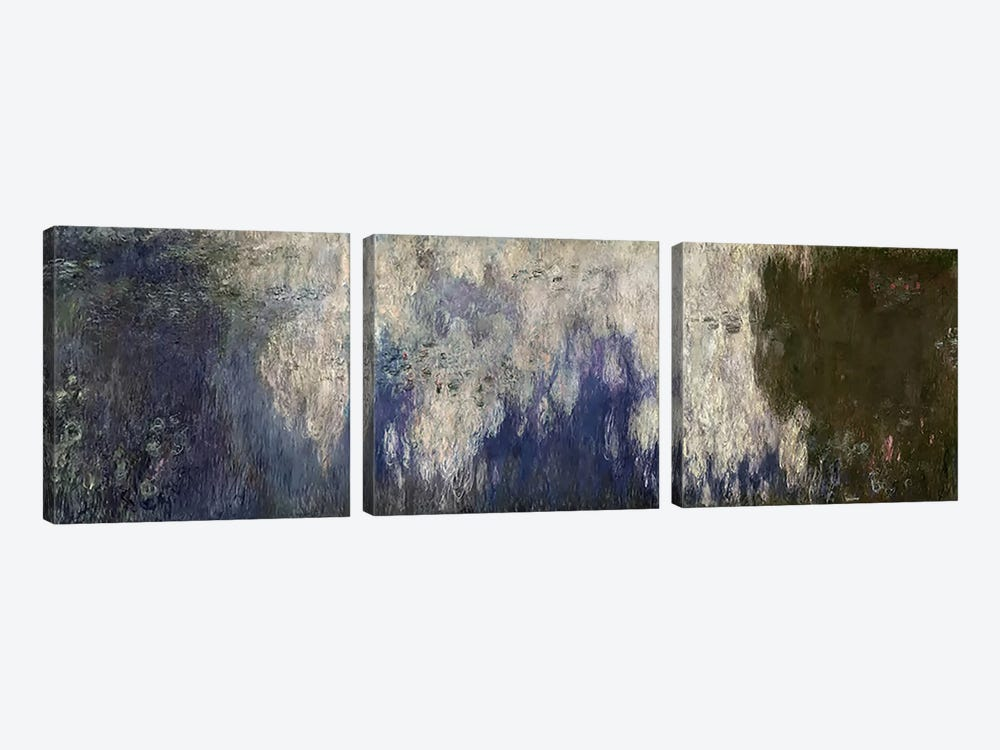 The Waterlilies - The Clouds, 1914-18  by Claude Monet 3-piece Canvas Art