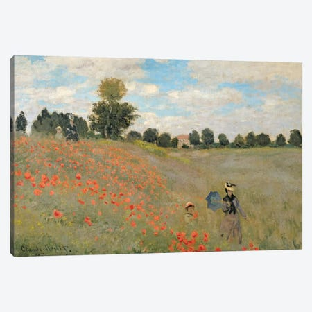 Wild Poppies, near Argenteuil  Canvas Print #BMN308} by Claude Monet Canvas Print