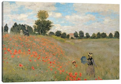 Wild Poppies, near Argenteuil Canvas Art Print