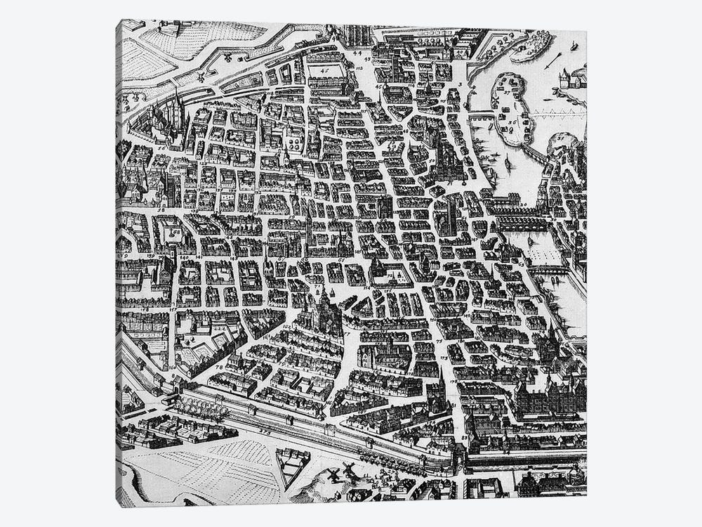 Map of Paris, 1620 1-piece Canvas Artwork