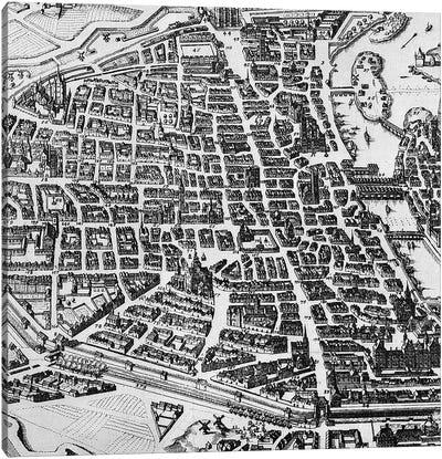 Map of Paris, 1620  Canvas Art Print