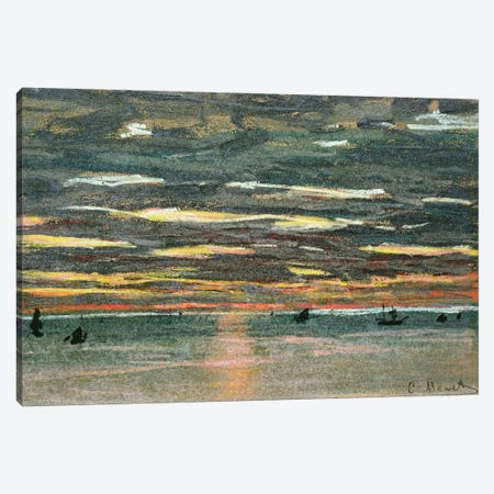 Sunset Over the Sea, 19th century  Canvas Print #BMN3091} by Claude Monet Canvas Artwork