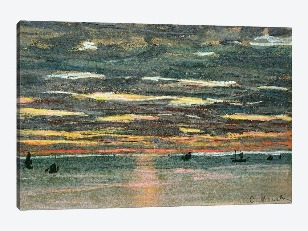 Sunset Over the Sea, 19th century  by Claude Monet 1-piece Canvas Art Print