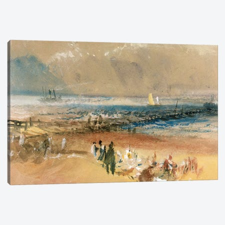 Boats at Margate Pier  Canvas Print #BMN3093} by J.M.W. Turner Canvas Wall Art
