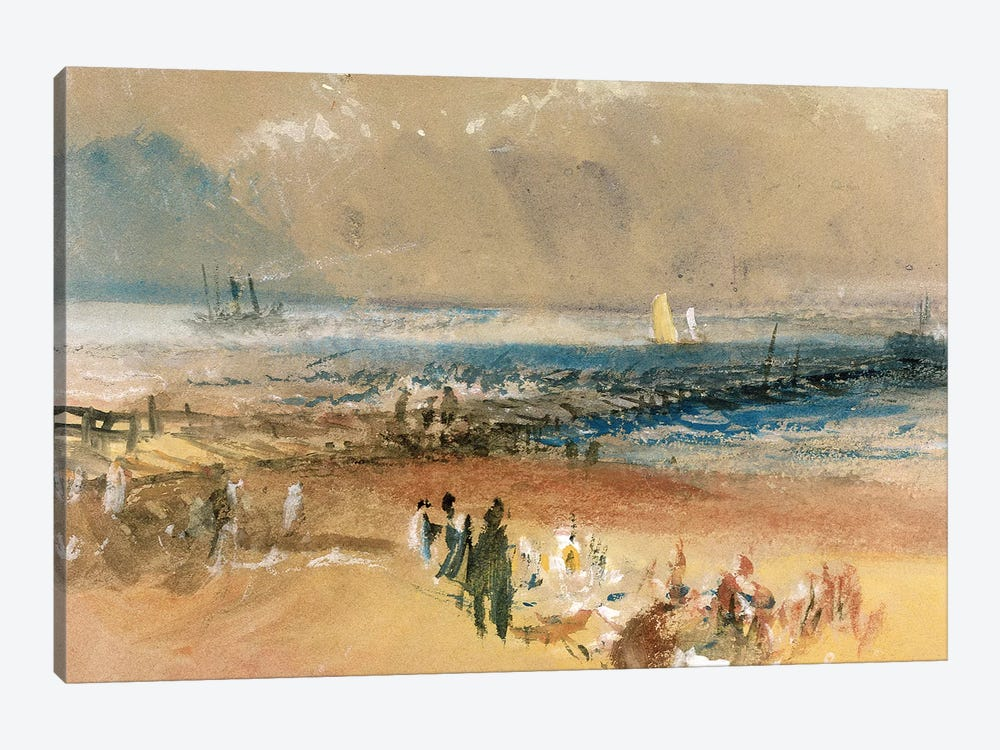 Boats at Margate Pier  by J.M.W. Turner 1-piece Canvas Print