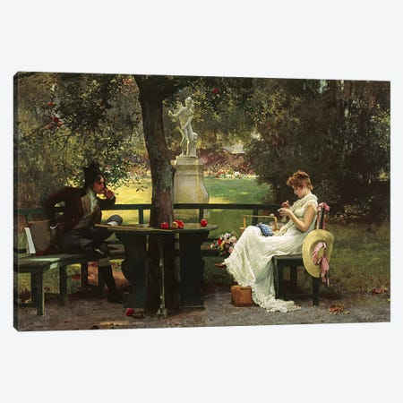 In Love  Canvas Print #BMN3095} by Marcus Stone Art Print