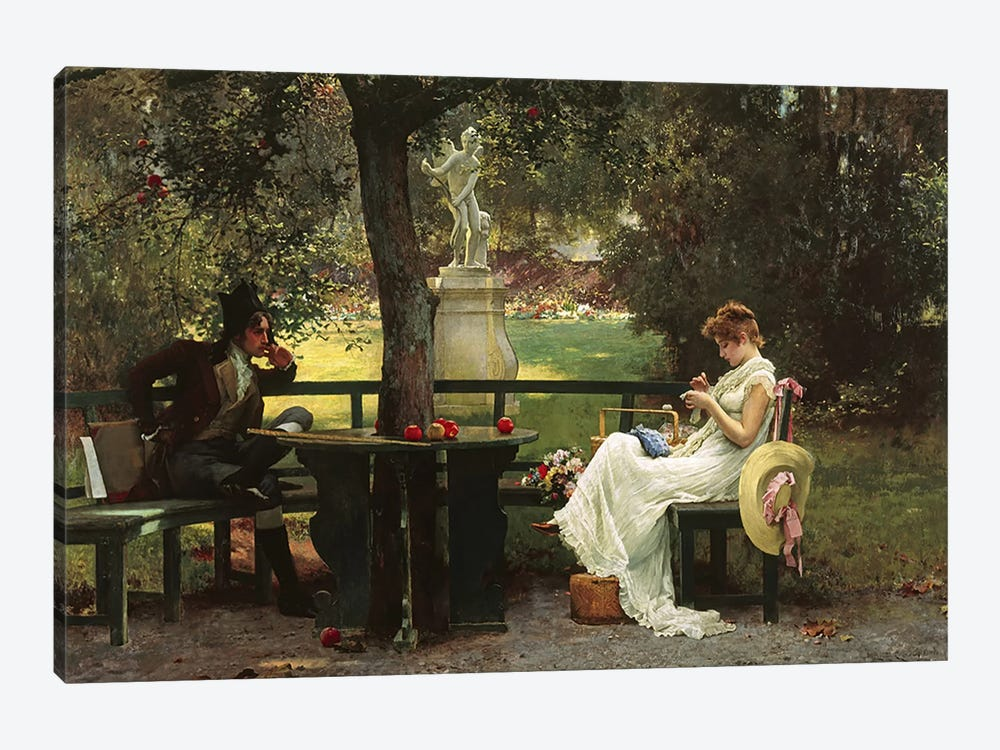 In Love  by Marcus Stone 1-piece Canvas Art Print