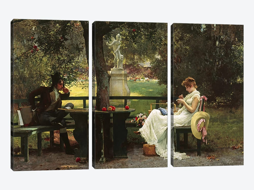 In Love  by Marcus Stone 3-piece Canvas Print